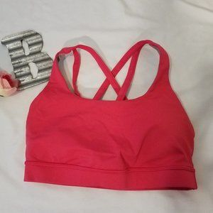 Lululemon Sz. 6 Pink Energy Bra With Support Cups